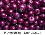 full frame shot of purple... | Shutterstock . vector #1284082174