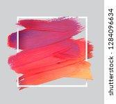 vector craft label brush stroke ... | Shutterstock .eps vector #1284096634