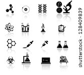 Chemistry and science icon set