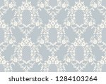 seamless damask wallpaper in... | Shutterstock .eps vector #1284103264