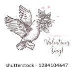 hand drawn vector love... | Shutterstock .eps vector #1284104647