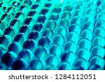 bright blue turquoise hydrogel... | Shutterstock . vector #1284112051
