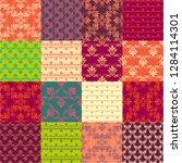 seamless vintage patterns.... | Shutterstock .eps vector #1284114301