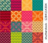 seamless vintage patterns.... | Shutterstock .eps vector #1284114304