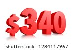340  three hundred and forty... | Shutterstock . vector #1284117967