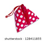 red purse isolated on a white... | Shutterstock . vector #128411855