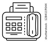 fax telephone icon. outline fax ... | Shutterstock .eps vector #1284119044