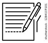 pen homework paper icon.... | Shutterstock .eps vector #1284119101