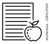 homework paper apple icon.... | Shutterstock .eps vector #1284119104