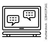 homework laptop icon. outline... | Shutterstock .eps vector #1284119161