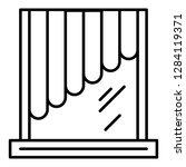 plastic sun shutter icon.... | Shutterstock .eps vector #1284119371