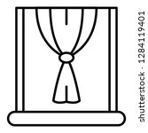 window node curtain icon.... | Shutterstock .eps vector #1284119401