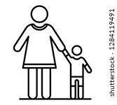 grandmother with nephew icon.... | Shutterstock .eps vector #1284119491