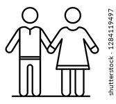 senior couple icon. outline... | Shutterstock .eps vector #1284119497