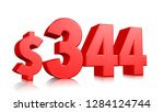 344  three hundred and forty... | Shutterstock . vector #1284124744