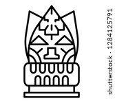 totem idol icon. outline totem... | Shutterstock .eps vector #1284125791