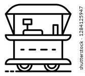 fast food street cart icon.... | Shutterstock .eps vector #1284125947