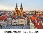 prague  czech republic. old... | Shutterstock . vector #128413205