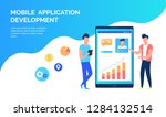 mobile aplication development... | Shutterstock .eps vector #1284132514