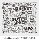 doodle space element | Shutterstock .eps vector #128413454