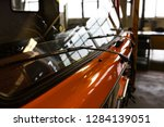 production of freight transport.... | Shutterstock . vector #1284139051