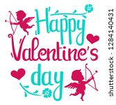 illustration of happy valentine ...   Shutterstock .eps vector #1284140431