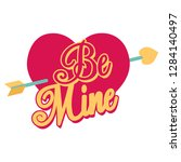 be mine. a quote for a couple...   Shutterstock .eps vector #1284140497