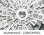 numerology abstract wallpaper | Shutterstock . vector #1284144961