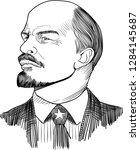 vladimir lenin  1870 1924 ... | Shutterstock .eps vector #1284145687