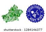 vector collage of wine map of... | Shutterstock .eps vector #1284146377