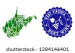 vector collage of wine map of... | Shutterstock .eps vector #1284146401