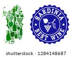 vector collage of wine map of... | Shutterstock .eps vector #1284148687