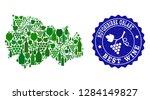 vector collage of wine map of... | Shutterstock .eps vector #1284149827