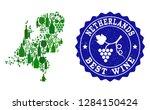 vector collage of wine map of... | Shutterstock .eps vector #1284150424