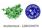 vector collage of wine map of... | Shutterstock .eps vector #1284154474
