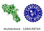 vector collage of wine map of... | Shutterstock .eps vector #1284158764