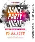 disco dance party flyer poster. ... | Shutterstock .eps vector #1284168847