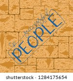 people shirt quote lettering... | Shutterstock .eps vector #1284175654