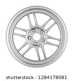 car alloy rim isolated on white ... | Shutterstock . vector #1284178081
