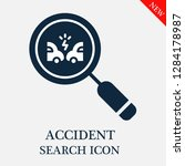 accident search icon. editable... | Shutterstock .eps vector #1284178987