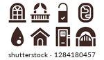 inside icon set. 8 filled... | Shutterstock .eps vector #1284180457
