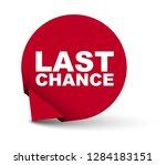 red vector banner last chance | Shutterstock .eps vector #1284183151
