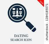 dating search icon. editable... | Shutterstock .eps vector #1284185071