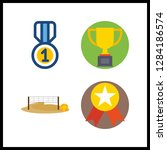 4 championship icon. vector... | Shutterstock .eps vector #1284186574