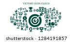 victory icon set. 93 filled... | Shutterstock .eps vector #1284191857
