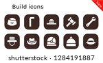 build icon set. 10 filled... | Shutterstock .eps vector #1284191887