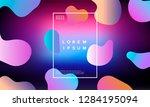 colorful minimalistic geometric ...   Shutterstock .eps vector #1284195094