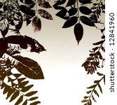 leaves silhouette grunge | Shutterstock . vector #12841960