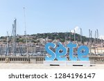 sete  france   july 3  2018 ... | Shutterstock . vector #1284196147