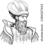 architect sinan   1489 1588 ... | Shutterstock .eps vector #1284207631